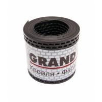 Лента вентиляционная ПВХ GRAND LINE,  0,1*5 м, черный