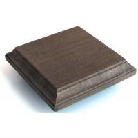 Крышка столба ДПК (верхняя часть+рамка), темно-коричневый