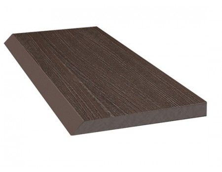 Торцевая рейка ДПК, 80 х 9 х 4000, темно-коричневый