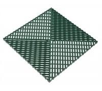 Газонная решётка с обрамлением, 0,4 х 0,4 х 0,018 м , зеленый