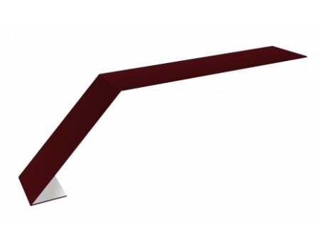 Карнизная планка (капельник) 2м 100х65 RAL3005 вишня