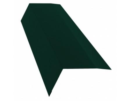 Ветровая (торцевая) планка 2м 80х100 RAL 6005 зеленый
