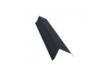 Ветровая (торцевая) планка 2м 80х100 TEXTURE RAL 7024 мокрый асфальт
