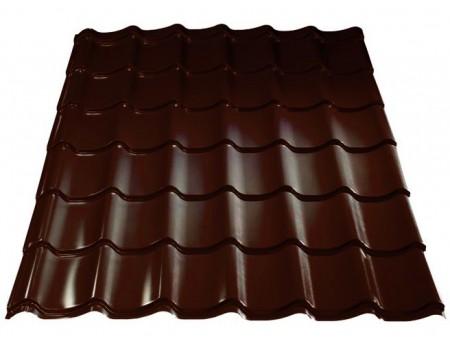 Металлочерепица TEXTURE  RAL 8017 (коричневый) 0,45 х1,18