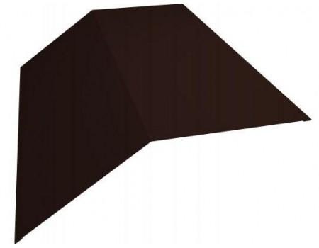 Конек простой  200х200  RAL 8017 коричневый