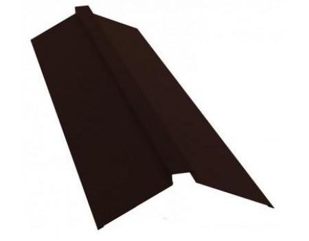 Конек профильный 145х145 RAL 8017 коричневый