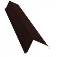 Ветровая (торцевая) планка 2м 80х100 RAL 8017 коричневый
