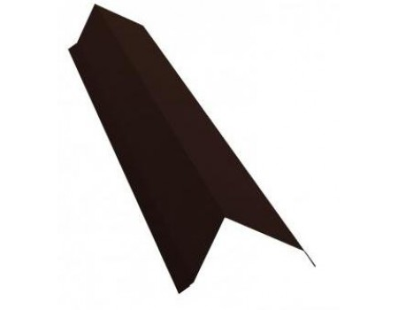 Ветровая (торцевая) планка 2м 80х100 TEXTURE RAL 8017 коричневый