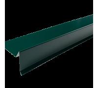 Торцевая планка для мягкой кровли 2м 6005 зеленый