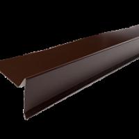 Торцевая планка для мягкой кровли 2м 8017 коричневый