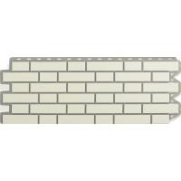Панель кирпич клинкерный (белый), 1,22 х 0,44м