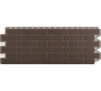 Панель кирпич клинкерный (коричневый), 1,22 х 0,44м