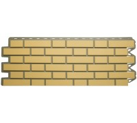 Панель кирпич клинкерный (желтый), 1,22 х 0,44м