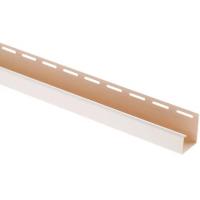 J-профиль для блокхаус, белый,  3 м