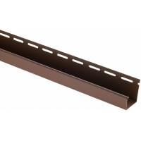 J-профиль для блокхаус, коричневый,  3 м