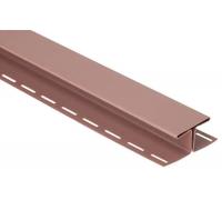 Соединительная планка для блокхаус, красно-коричневый,  3,05 м