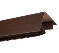 Угол наружный для блокхаус, орех темный,  3,05 м