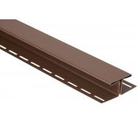 Соединительная планка для блокхаус, орех темный,  3,05 м