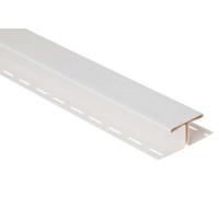 Соединительная планка для блокхаус, белый,  3,05 м