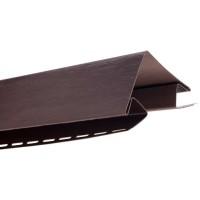 Угол наружный для блокхаус, коричневый,  3,05 м