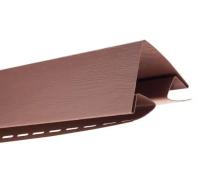Угол наружный для блокхаус, красно-коричневый,  3,05 м