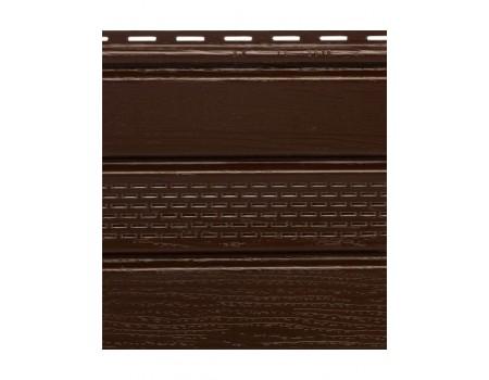 """Софит с центральной перфорацией, коричневый, """"Альта-профиль"""",  3 х 0,23 м"""