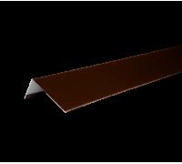 Наличник оконный металлический, 50х100х2000 мм, полиэстр 8017, HAUBERK