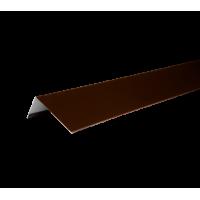 Наличник оконный металлический, 50х100х2000 мм, полиэстр 8017, HAUBERK (Хауберк)