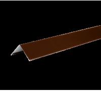 Уголок металлический внешний, 50х50х2000 мм, полиэстр 8017, HAUBERK (Хауберк)
