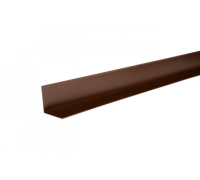Уголок металлический внутренний, 50х50х2000 мм, полиэстр 8017, HAUBERK