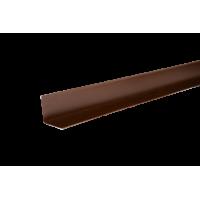 Уголок металлический внутренний, 50х50х2000 мм, полиэстр 8017, HAUBERK (Хауберк)