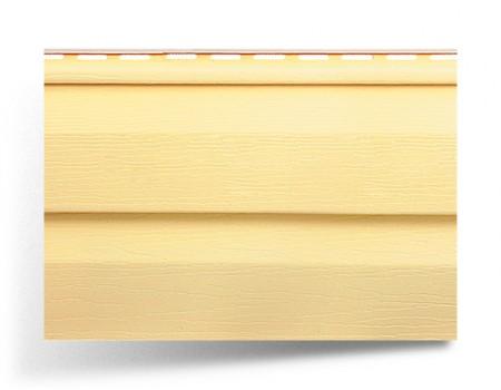 """Сайдинг виниловый, """"Канада плюс"""", желтый, 3,66 х 0,23 м"""