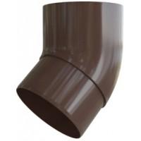 Колено трубы 45 гр, (Альта-профиль), коричневый