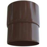 Муфта трубы, (Альта-профиль), коричневый