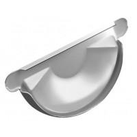 Заглушка торцевая универсальная, (GL), 125 мм, RAL 9003 (белый)