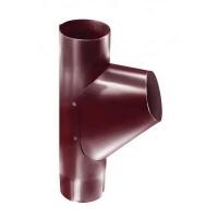 Тройник трубы, (GL), 90 мм, RAL 3005(вишня)
