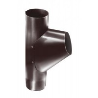 Тройник трубы, (GL), 90 мм, RAL 8017 (коричневый)