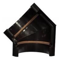 Угол желоба, 135°, (Murol), универсальный, коричневый