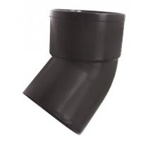 Отвод трубы (Murol), 45 гр, коричневый