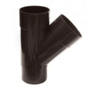 Тройник водосточной трубы, (Murol), коричневый