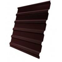 Профнастил (1сорт), С20(B), 8017(коричневый), 2,5 х 1,15 м.