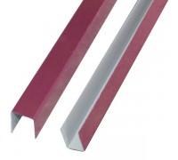 Планка П-образная, 3005 (вишня), 20х20х20, 2 м.