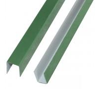 Планка П-образная, 6005 (зеленый), 20х20х20, 2 м.