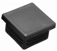 Заглушка пластиковая черная внутренняя  100х100 мм.