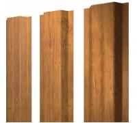 Штакетник металлический, П-образный, Golden Dub (под дерево),  1,5 х 0,1 м.