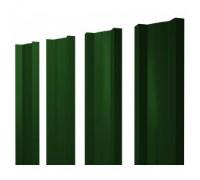 Штакетник металлический, М-образный, RAL 6005 (зеленый),  1,5 х 0,1 м.