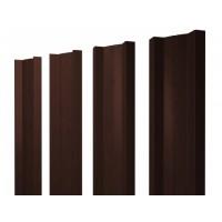 Штакетник металлический, М-образный, RAL 8017 (коричневый),  1,5 х 0,1 м.