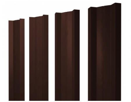 Штакетник металлический, М-образный, RAL 8017 (коричневый),  1,8 х 0,1 м.